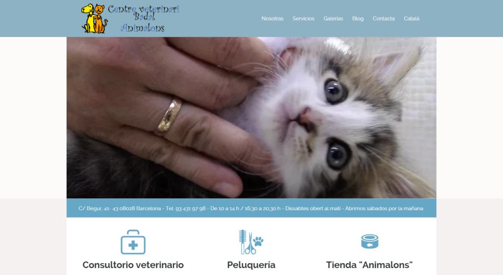 Web Centre veterinari Badal